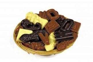 Mandje sinterklaas chocolade